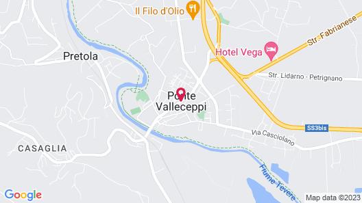Vega Hotel Perugia Map