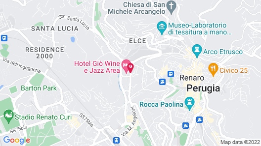 Hotel Giò Wine e Jazz Area Map