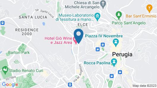 Hotel Giò Wine e Jazz Area Map