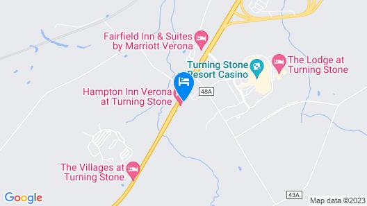 Hampton Inn Verona at Turning Stone Map