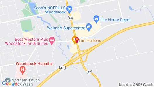 Days Inn by Wyndham Woodstock Map