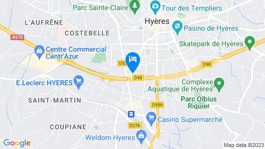 B&B Hotel Hyeres Map