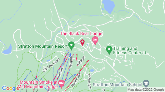 The Black Bear Lodge at Stratton Mountain Resort Map
