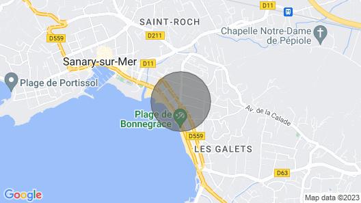 3 Pièces Résidence Bord de Mer, Dernier Étage Terrasse sur Parc Map