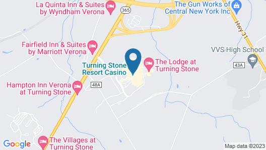 Turning Stone Resort And Casino Map