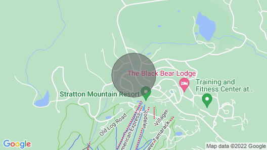 Newly Renovated Stratton ski Chalet, Less Than 10 min Walk to Lifts and Village! Map