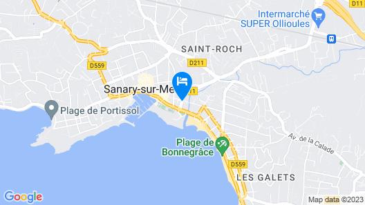 Adonis Sanary Grand Hôtel des Bains Map