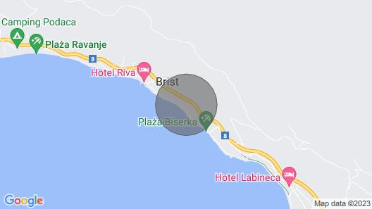 One bedroom apartment near beach Brist, Makarska (A-11078-a) Map