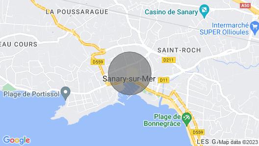 Appartement Type Loft à 50 Mètres du Port Map
