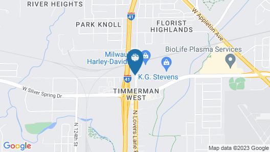 Hampton Inn by Hilton Milwaukee Northwest Map