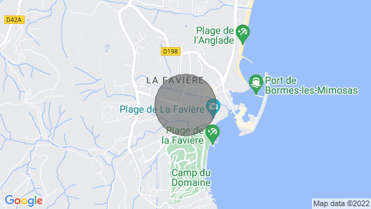 Apartment 2 Steps From the Beach of la Favière Map