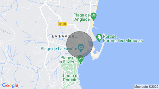 Apartment T3 sea View Direct Access Beach of Favière and any Trade Map