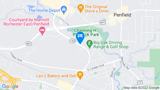 Hampton Inn by Hilton Rochester Penfield Map