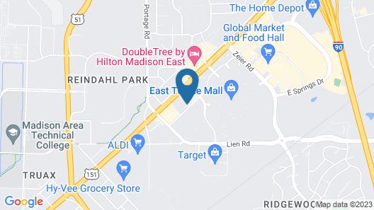 Motel 6 Madison, WI - East Map