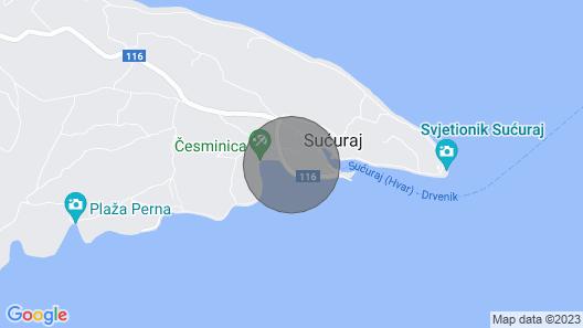 Studio Flat Near Beach Su?uraj, Hvar Map