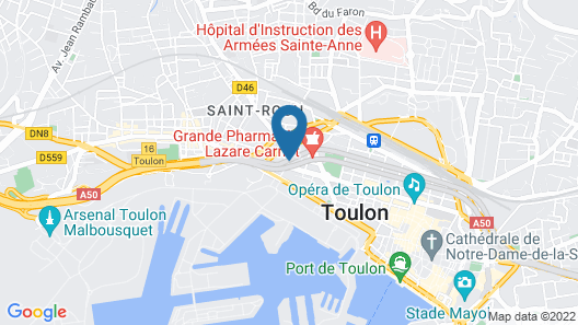 Holiday Inn Toulon City Centre Map