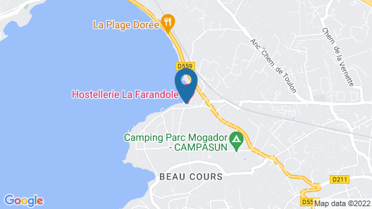 Hostellerie La Farandole Map