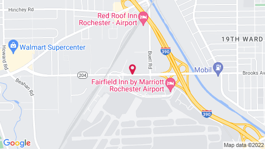 Fairfield Inn Marriott Rochester Airport Map