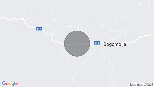Villa Blažen - Bogomolje Map