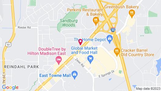 Econo Lodge Madison Map