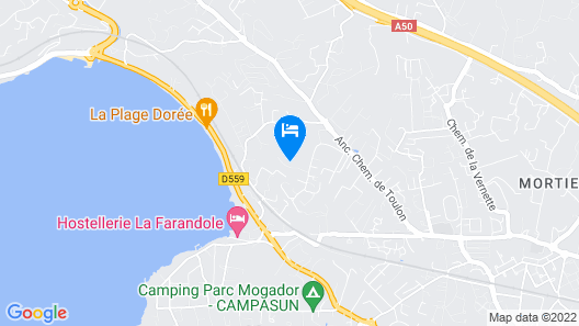 La Villa Sanary-Sur-Mer Map