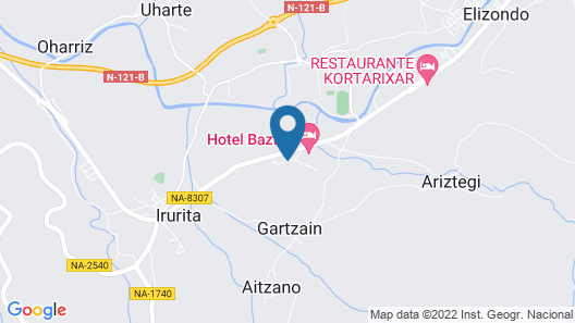Hotel Baztán Map