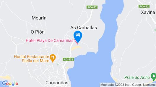 Hotel Playa de Camariñas Map