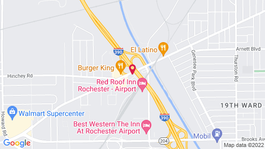 Motel 6 Rochester, NY - Airport Map