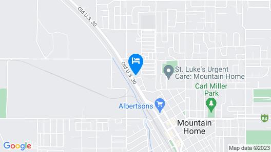 Thunder Bird Motel Map