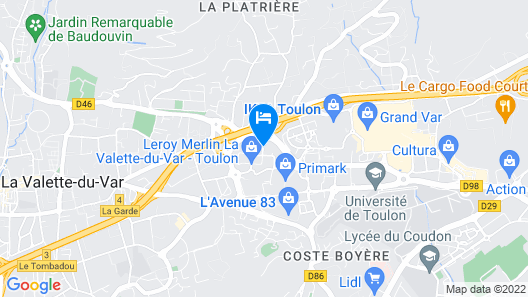Mona Lisa Val'Hôtel Map