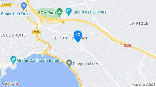 Odalys Residence La Marina Map