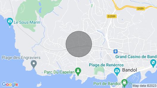 Villa Lomy - Maison de Caractère - Bord de mer Bandol - Création 2021 Map
