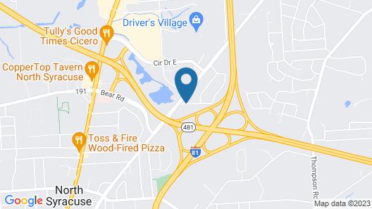 Budget Inn - Syracuse Airport Map