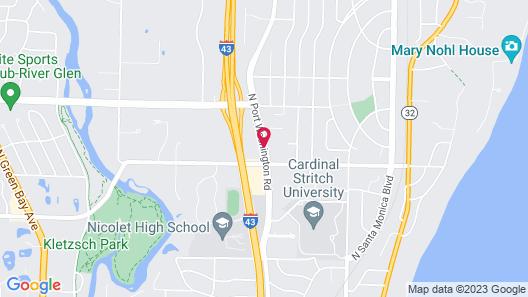 Fairfield Inn & Suites by Marriott Milwaukee North Map
