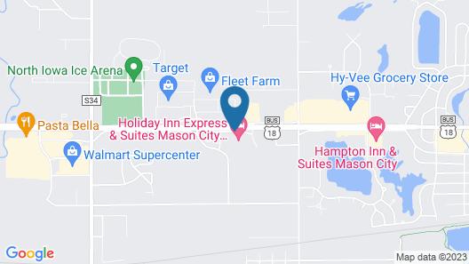Hampton Inn & Suites Mason City Map
