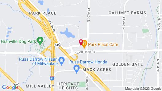 Comfort Suites Milwaukee - Park Place Map