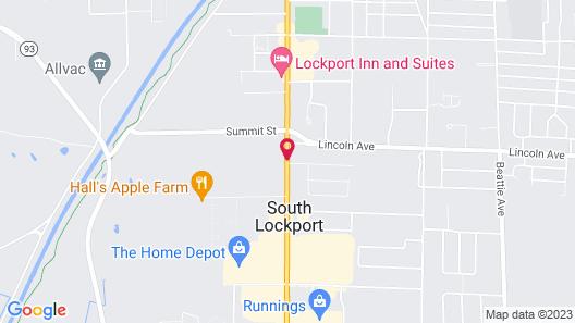 Best Western Plus Lockport Hotel Map