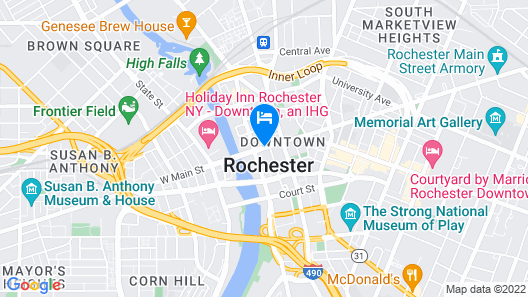 Hilton Garden Inn Rochester Downtown Map