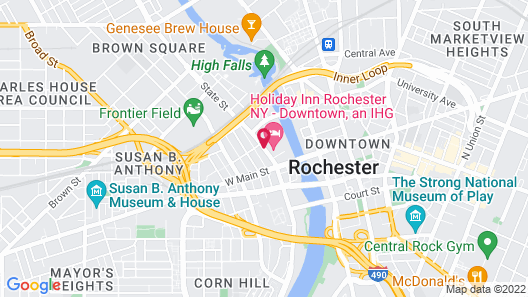 Holiday Inn Rochester Downtown Map