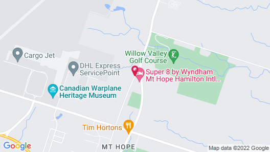 Super 8 by Wyndham Mt Hope Hamilton Intl Arpt ON Map
