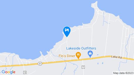 FOOTBALL FIELD SIZE YARD, Sandy Beach, Sunsets, PRIVATE Rd, 6 mi.to Sylvan Beach Map