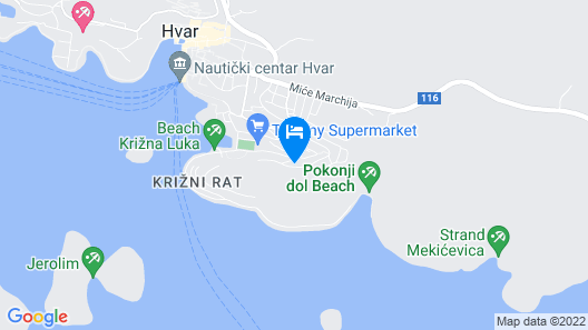 Hvar Zen Apartment Map