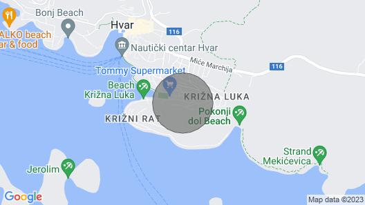 Apartment in Casa Dubi Hvar Map