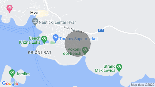 Studio Apartment Hvar 1 Map