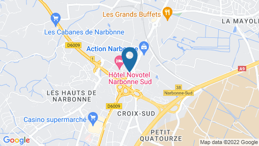 ibis Narbonne Map
