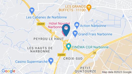 Novotel Narbonne Sud Map