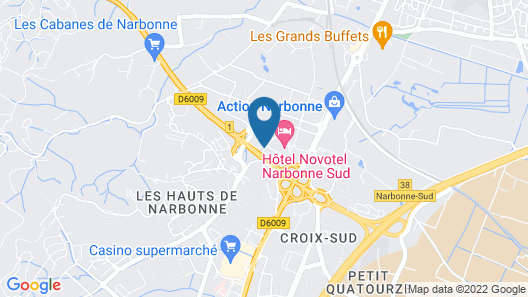 B&B Hotel Narbonne (1) Map
