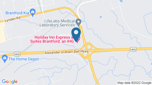Home2 Suites by Hilton Brantford Map
