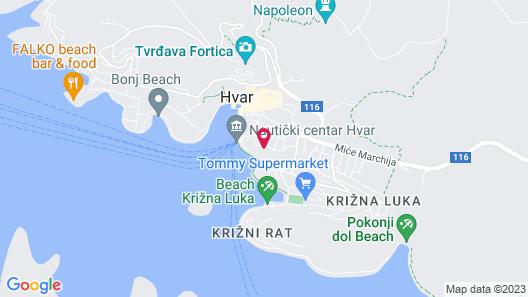 Villa Milton Hvar Map