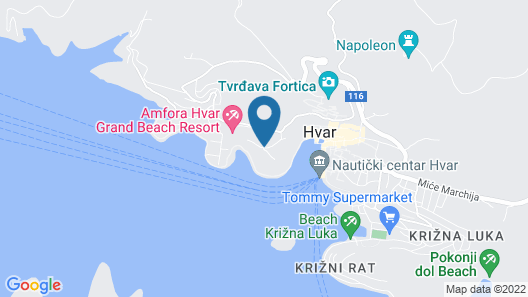 Pharos Hvar Bayhill Hotel Map